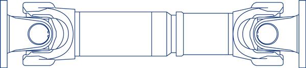 Transmisión a cardan para industria, modelo 687_688.