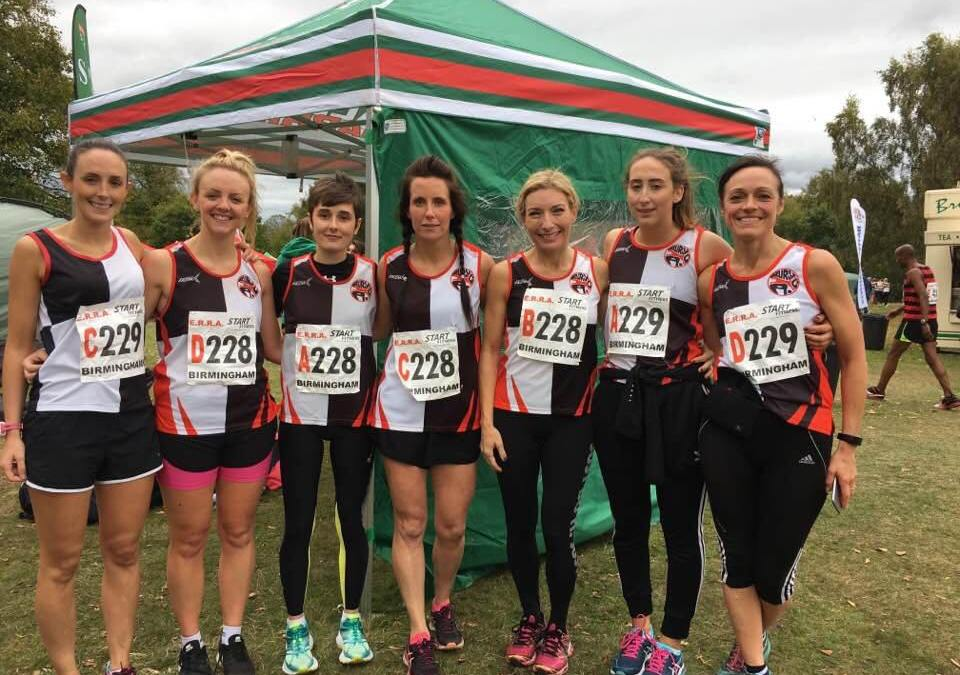 Women at the Nationals whilst Ben wins the Rochdale Half