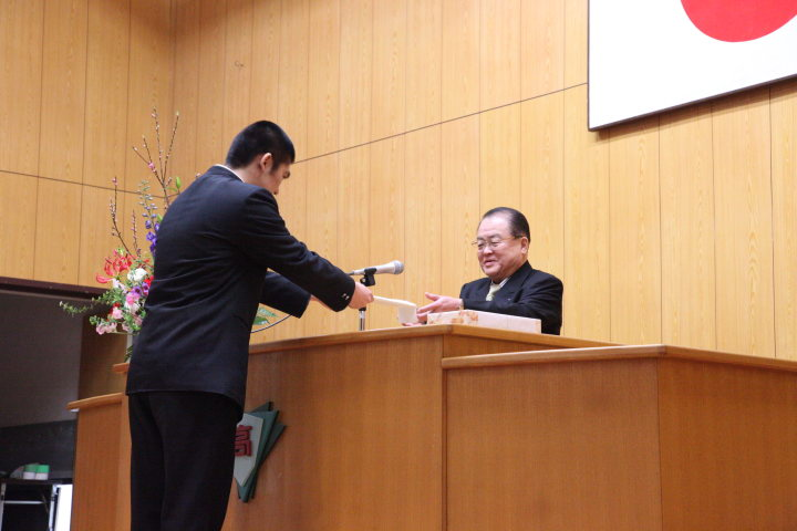 武陵会入会式 平成24年2月28日 武雄高校体育館