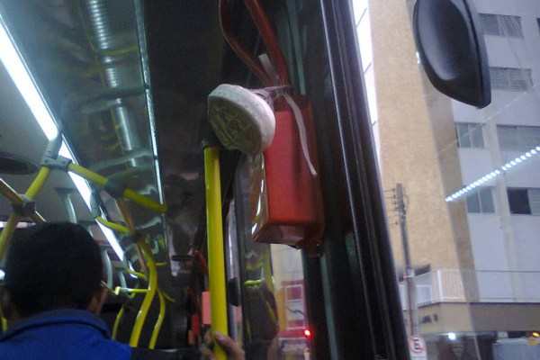 Bizarrices que sempre encontramos nos ônibus