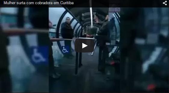 Mulher surta com cobradora em Curitiba