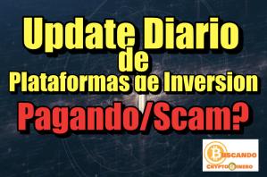 Lee más sobre el artículo Update Diario de Plataformas Pagando/No Pagando (11/13/18)
