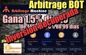 Lee más sobre el artículo ArbitrageBOT Inversion Inicial Recuperada en 2 meses