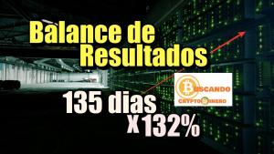 Lee más sobre el artículo Balance de resultados 135 dias x 132% + Rifa de Litecoin