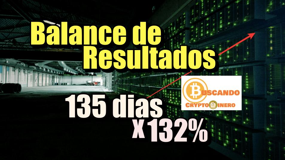En este momento estás viendo Balance de resultados 135 dias x 132% + Rifa de Litecoin