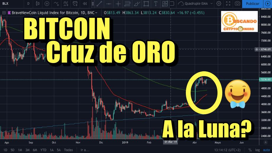 En este momento estás viendo BITCOIN Cruz de ORO, a la Luna?