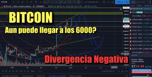 Lee más sobre el artículo Bitcoin aun puede llegar a 6000? Divergencia negativa