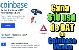 Lee más sobre el artículo Gana 10 usd en BAT con Coinbase Mexico
