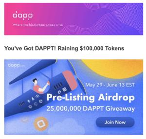 Lee más sobre el artículo DAPP Airdrop Ronda 2 no te quedes fuera Fecha Limite Junio 14