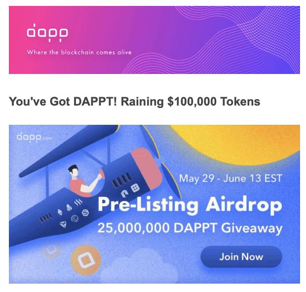 En este momento estás viendo DAPP Airdrop Ronda 2 no te quedes fuera Fecha Limite Junio 14