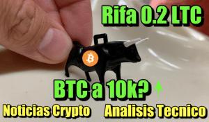 Lee más sobre el artículo Rifa 0.2 LTC + Noticias Crypto + Analisis Tecnico + BTC a 10k?