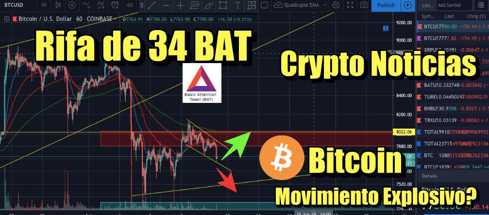 En este momento estás viendo Rifa 34 BAT + Noticias crypto + Bitcoin movimiento explosivo hoy?