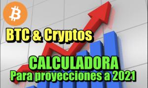 Lee más sobre el artículo Calculadora para Proyección de inversion en Crypto a finales de 2021