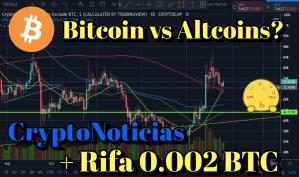 Lee más sobre el artículo Bitcoin vs Altcoins + Noticias Crypto + Rifa 0.002 BTC