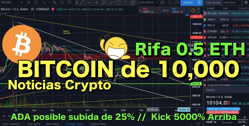 En este momento estás viendo WOW Rifa 0.5 ETH  + Crypto Noticias + BITCOIN de 10,000 (5 digitos)