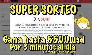 Lee más sobre el artículo BTCSurf SUPER sorteo Gana hasta 5500 usd