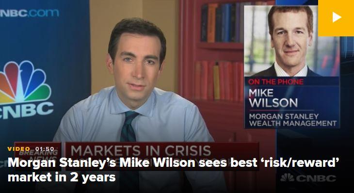 En este momento estás viendo «Nos gustan estos precios» – Mike Wilson de Morgan Stanley ve el mejor mercado de «riesgo-recompensa» en 2 años