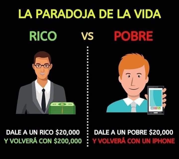 paradoja rico y pobre