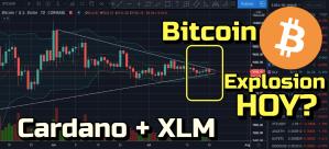 Lee más sobre el artículo Bitcoin posible Explosion Hoy + revision de Cardano y XLM !!!