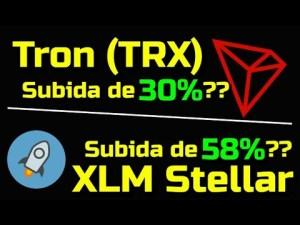 Lee más sobre el artículo Tron TRX subira 30% ?? XLM Stellar subira un 58%??