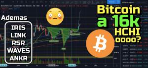 Lee más sobre el artículo Bitcoin a 16k por Hombro Cabeza Hombro Invertido?? +IRIS, Link, RSR, Waves y ANKR !!!