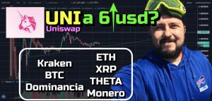 Lee más sobre el artículo UNI subira a 6 usd?? (Uniswap Coin) + Kraken + BTC, Dominancia, ETH, XRP, Theta y Monero!!