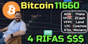 Lee más sobre el artículo Bitcoin 11660 hoy??? + 4 Rifas + Ada, YFIIC, YFPI, LTC, ETH, Theta, ZCash, lend, Cosmos, Monero!!