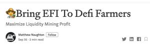 Lee más sobre el artículo 👨🌾  «EFI» a Defi Farmers (ETHYFI)