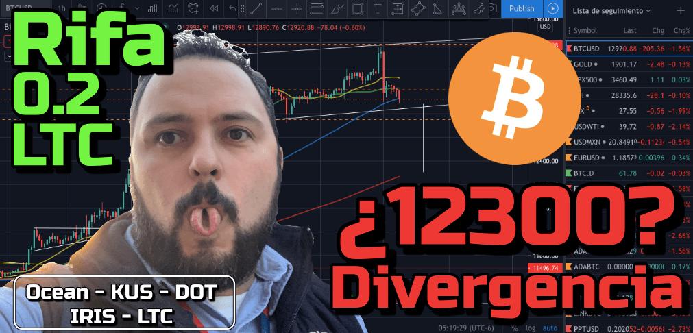 En este momento estás viendo Bitcoin a probar los 12300?? + RIFA 0.2 LTC + Ocean, Kusama, Polkadot, Iris y Litecoin!!