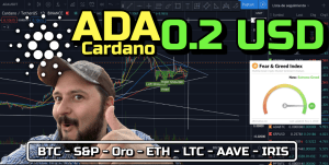 Lee más sobre el artículo CARDANO «ADA» a 0.2 !!!!  + Extreme Greed + S&P, ORO, BTC, ETH, LTC, Aave e Iris!!