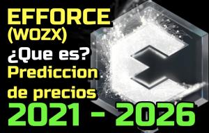 Lee más sobre el artículo EFFORCE (WOZX) Que es?? Prediccion de precios 2021-2026… Me conviene invertir??