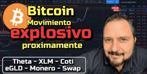 Lee más sobre el artículo Bitcoin Fuerte Movimiento proximamente + Theta, XLM, Coti, eGLD, Monero y Swap !!