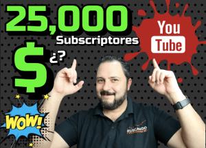 Lee más sobre el artículo ⬆️ Cuánto me paga Youtube con 25000 Subscriptores? 😱🤑