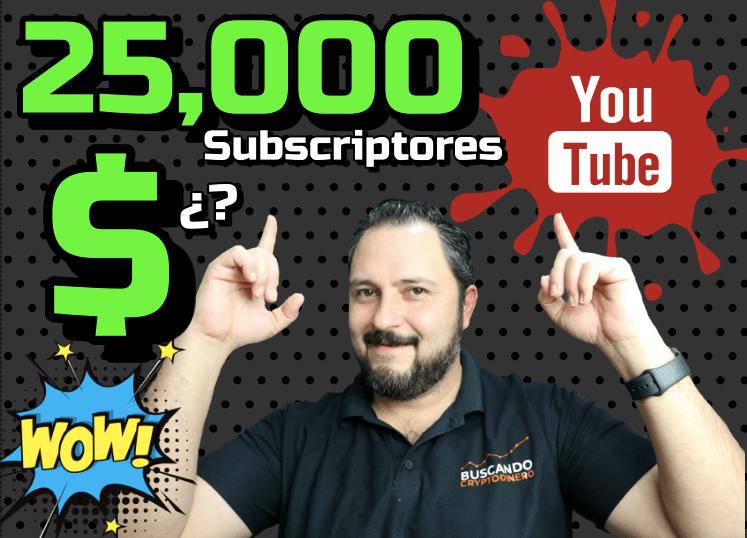 En este momento estás viendo ⬆️ Cuánto me paga Youtube con 25000 Subscriptores? 😱🤑