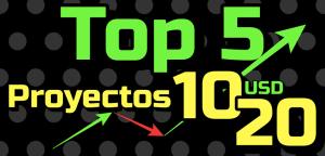 Lee más sobre el artículo Top 5 «Proyectos entre 10-20 usd» en Crypto 🚀 !!!