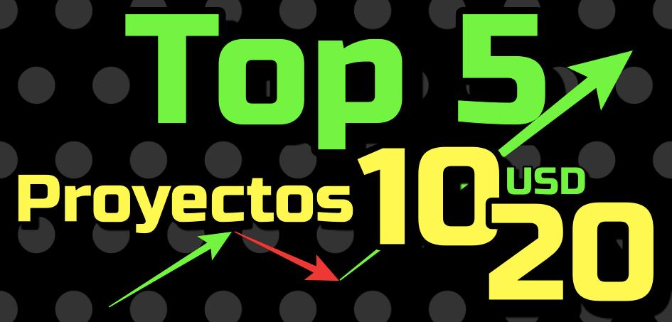 En este momento estás viendo Top 5 «Proyectos entre 10-20 usd» en Crypto 🚀 !!!