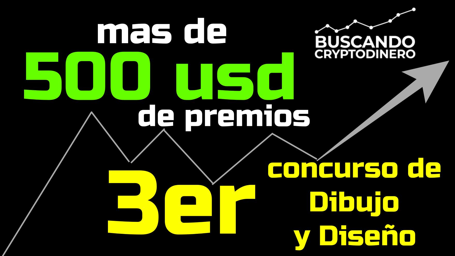 Lee más sobre el artículo 🙀 Mas de 500 usd en premios ➤ 3er concurso de Dibujo y Diseño BuscandoCryptoDinero !!!