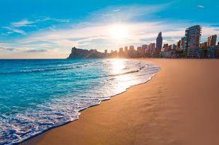 puesta de sol playa Benidorn