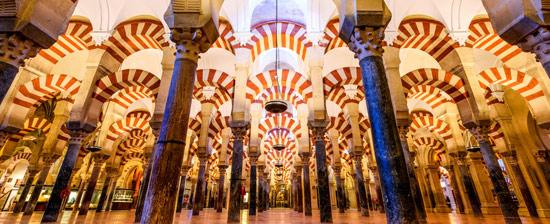 Ciudad de Córdoba. Interior de la Mezquita de Córdoba