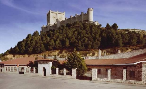 Bodega bajo el castillo de peñafiel