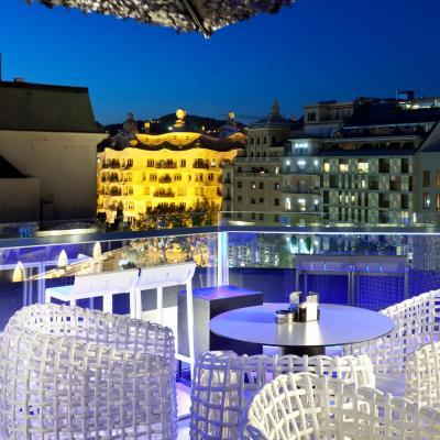 Terraza del hotel Condes de Barcelona