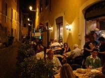 Cenar en Trastevere