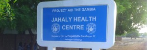 Sign-board-Jahaly-Health-Centre-Buschklinik