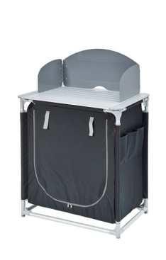 Mueble Cocina de camping Gris/Negro Plegable