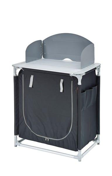 Mueble cocina camping gris negro 2