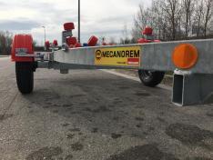 Remolque Mecanorem eje 1300 kg sin freno – Matricula Blanca