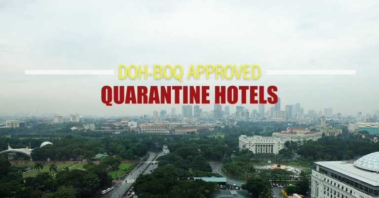 DOH-BOQ Approved Quarantine Hotels in Metro Manila and Nearby Provinces