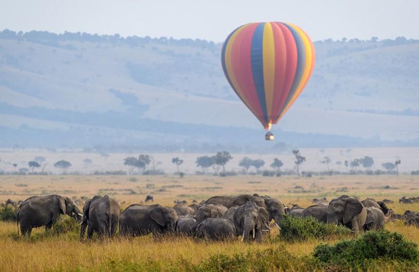 Hot Air Balloon over Africa