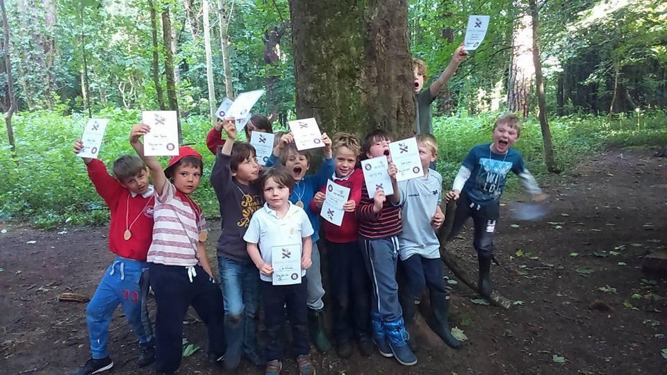 kids bushcraft birthday party cardiff