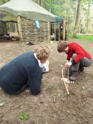 Fire lighting - the bow drill